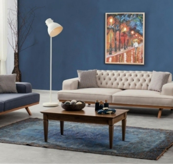 Salonunuzun karakterini yeniden ortaya çıkaracak olan Angel koltuk takımı, ceviz ve lacivertin sıra dışı uyumunu şık ve dinamik tasarımla bütünleştiriyor.